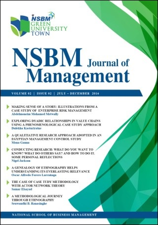 cover image for the NSBM Journal of Management journal