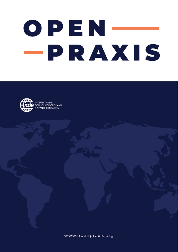 cover image for the Open Praxis journal