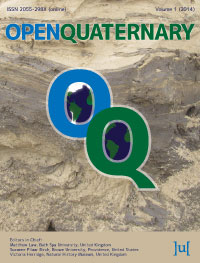 cover image for the Open Quaternary journal