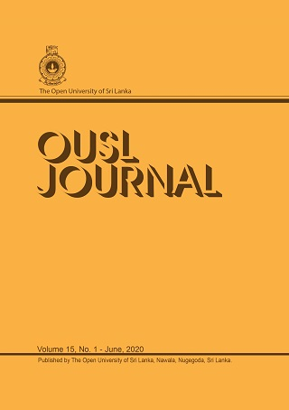 cover image for the OUSL Journal journal