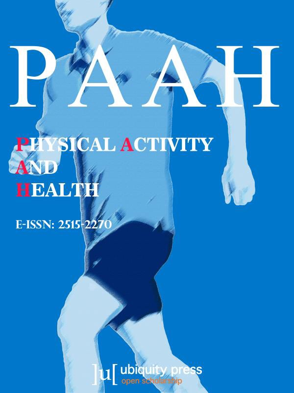 cover image for the Physical Activity and Health journal