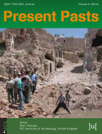 cover image for the Present Pasts journal