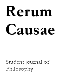 cover image for the Rerum Causae journal
