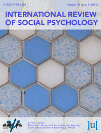 cover image for the International Review of Social Psychology journal