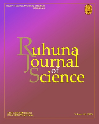 cover image for the Ruhuna Journal of Science journal
