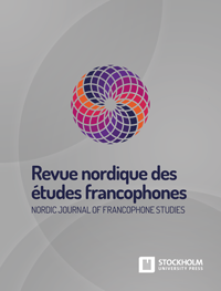 cover image for the Nordic Journal of Francophone Studies/ Revue nordique des études francophones journal