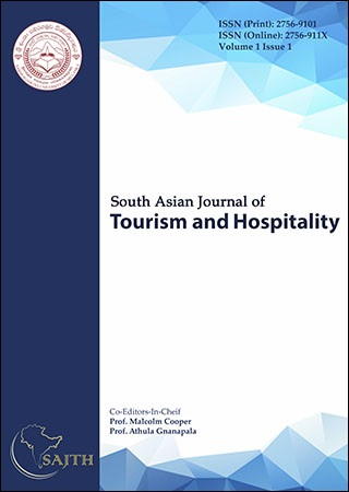 cover image for the South Asian Journal of Tourism and Hospitality journal