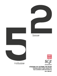 cover image for the Studies in Gothic Fiction journal