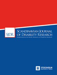 cover image for the Scandinavian Journal of Disability Research journal