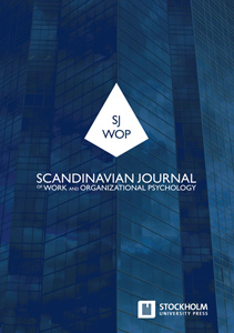 cover image for the Scandinavian Journal of Work and Organizational Psychology journal