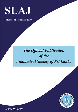 cover image for the Sri Lanka Anatomy Journal journal