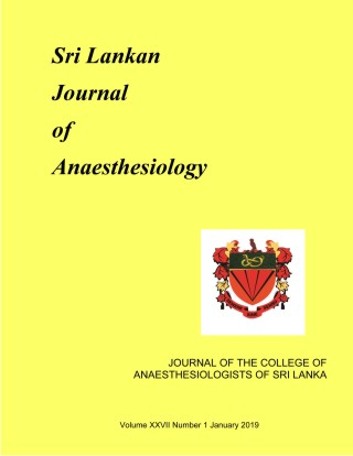 cover image for the Sri Lankan Journal of Anaesthesiology journal