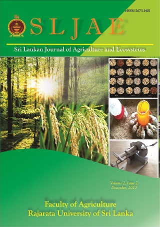 cover image for the Sri Lankan Journal of Agriculture and Ecosystems journal
