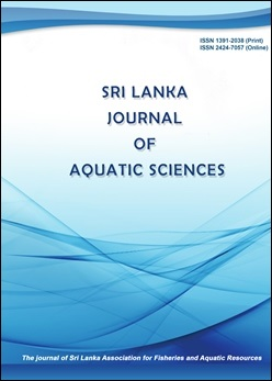 cover image for the Sri Lanka Journal of Aquatic Sciences journal