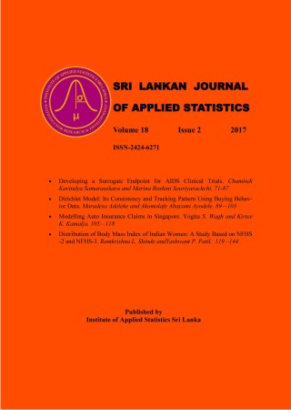 cover image for the Sri Lankan Journal of Applied Statistics journal