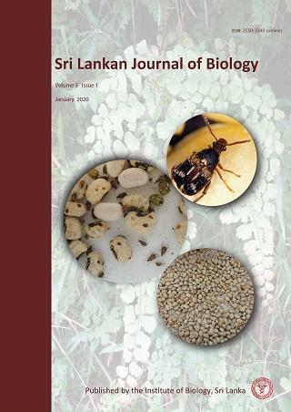 cover image for the Sri Lankan Journal of Biology journal