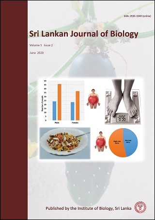 cover image for the Sri Lankan Journal of Biology journal