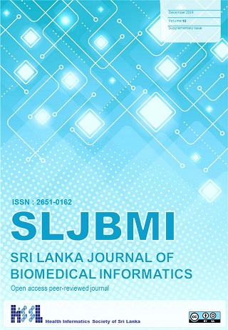 cover image for the Sri Lanka Journal of Bio-Medical Informatics journal