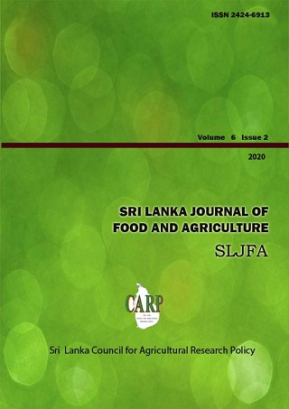cover image for the Sri Lanka Journal of Food and Agriculture journal