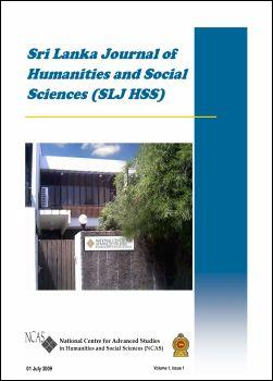 cover image for the Sri Lanka Journal of Humanities and Social Sciences journal