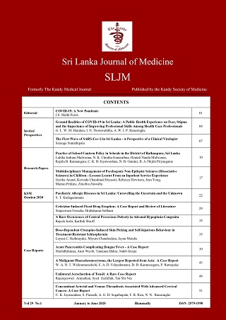 cover image for the Sri Lanka Journal of Medicine journal