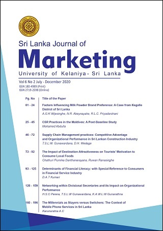 cover image for the Sri Lanka Journal of Marketing journal