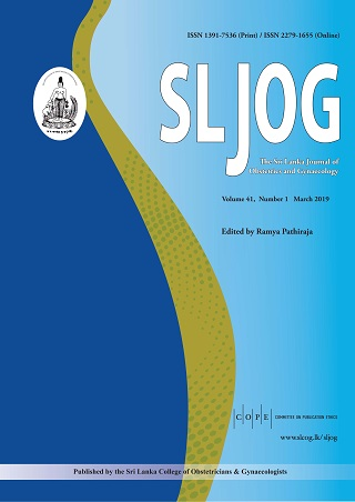 cover image for the Sri Lanka Journal of Obstetrics and Gynaecology journal