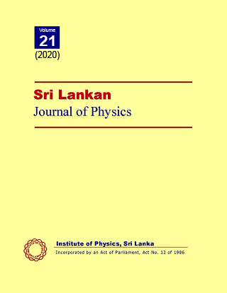 cover image for the Sri Lankan Journal of Physics journal