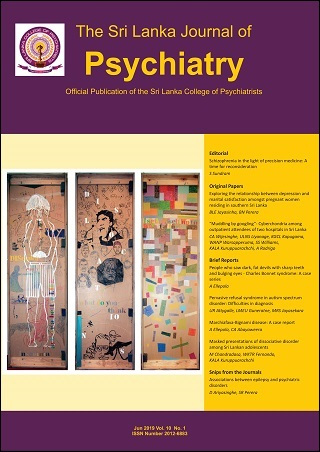 cover image for the Sri Lanka Journal of Psychiatry journal