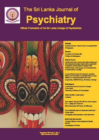 cover image for the Sri Lanka Journal of Psychiatry journal