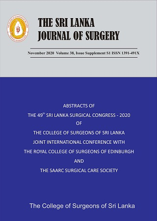 cover image for the Sri Lanka Journal of Surgery journal