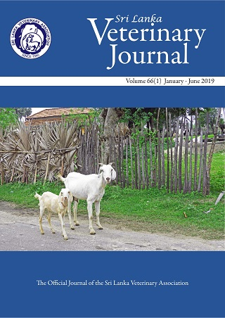 cover image for the Sri Lanka Veterinary Journal journal