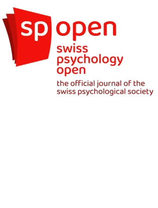 cover image for the Swiss Psychology Open: the official journal of the Swiss Psychological Society journal