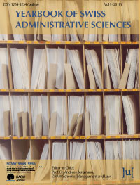 cover image for the Yearbook of Swiss Administrative Sciences journal