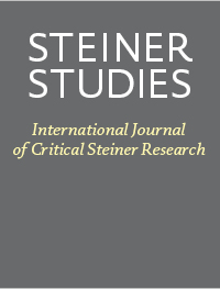 cover image for the Steiner Studies. Internationale Zeitschrift für kritische Steiner-Forschung journal