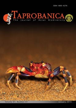 cover image for the TAPROBANICA: The Journal of Asian Biodiversity journal