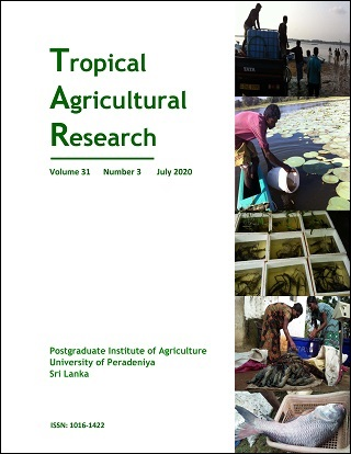 cover image for the Tropical Agricultural Research journal