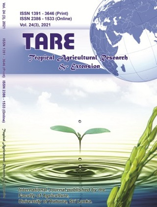 cover image for the Tropical Agricultural Research and Extension journal