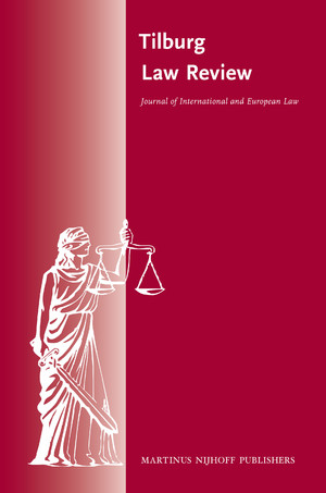 cover image for the Tilburg Law Review journal