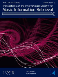 cover image for the Transactions of the International Society for Music Information Retrieval journal