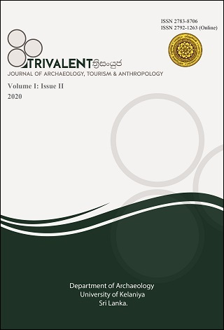 cover image for the TRIVALENT ත්රිසංයුජ: Journal of Archaeology, Tourism & Anthropology journal
