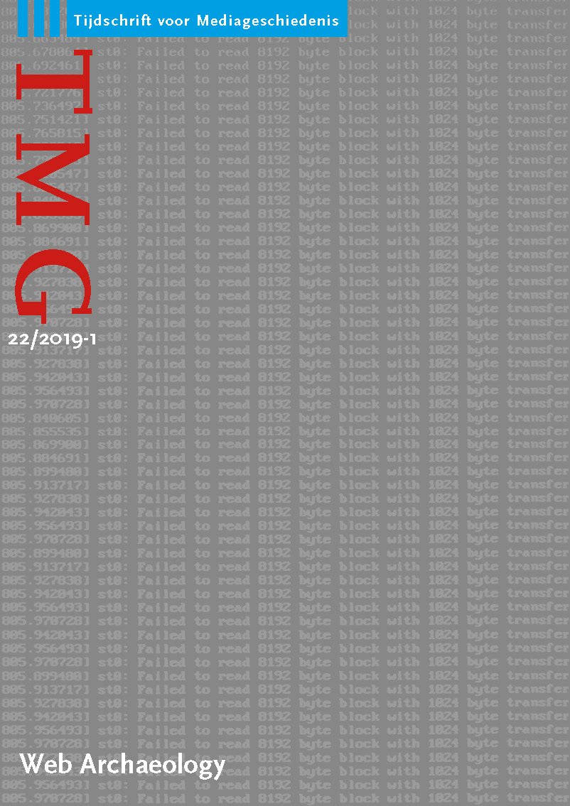 cover image for the TMG Journal for Media History journal
