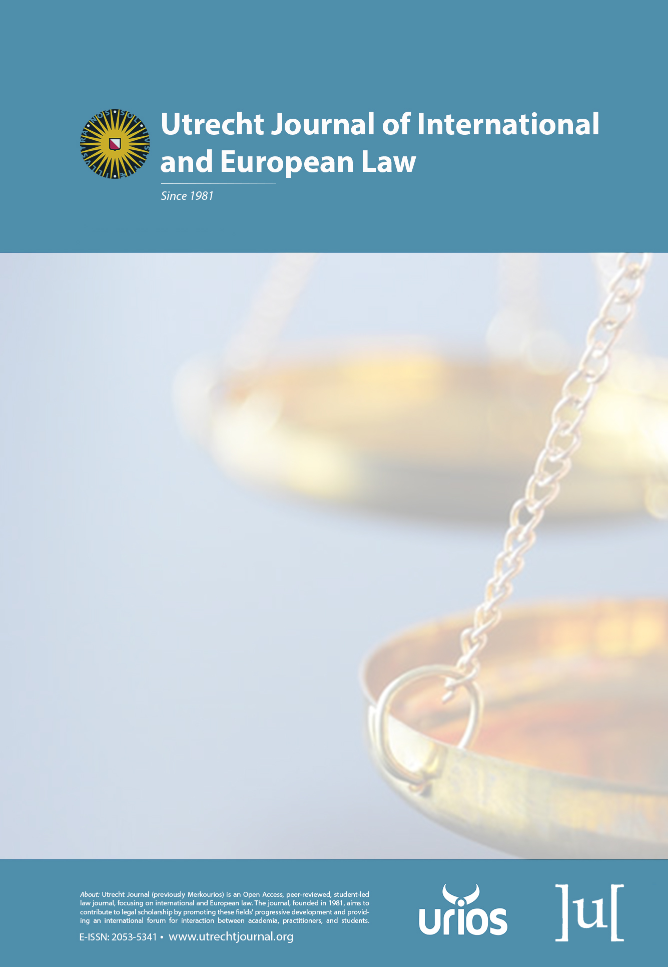 cover image for the Utrecht Journal of International and European Law journal