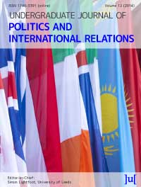 cover image for the Undergraduate Journal of Politics and International Relations journal