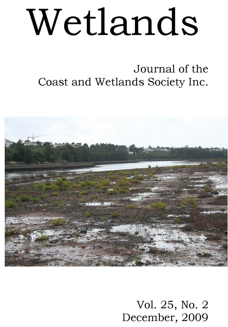 cover image for the Wetlands Australia journal