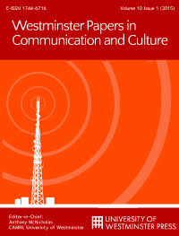 cover image for the Westminster Papers in Communication and Culture journal
