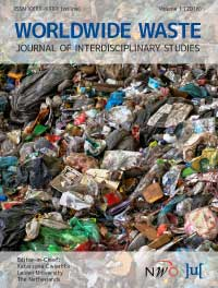 cover image for the Worldwide Waste: Journal of Interdisciplinary Studies journal