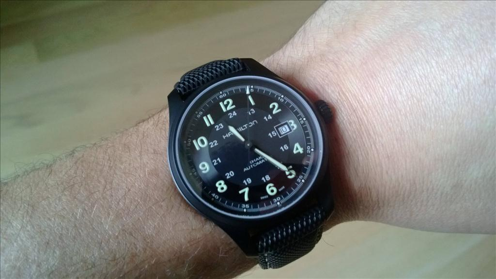 284c3af431f Hamilton Watch Khaki Field Titanium PVD H70575733 Watch