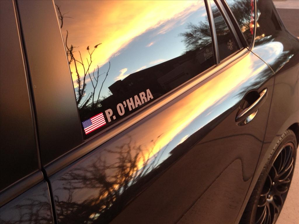 Driver Name Vinyl Decal TrackDecals - Car decal maker upload picture