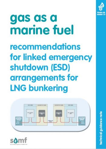 Recommendations for linked emergency shutdown (ESD) arrangements for LNG bunkering